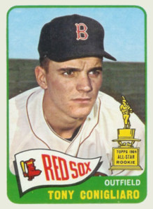 Despite leading the American League in home runs in 1965, Tony Conigliaro had a far more ill-fated career even than Arnold Earley. After getting hit by a pitch in 1967, he almost lost vision in one eye, missed the entire 1968 season, and never got back to full health before retiring in 1971. A brief comeback attempt in 1975 was unsuccessful. After a stroke in 1982, he was in a coma for eight years before dying in 1990.