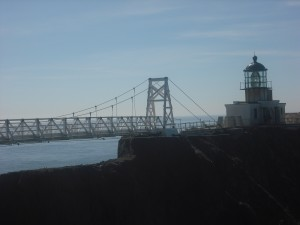 The bridge to Point Bonita Lighthouse.