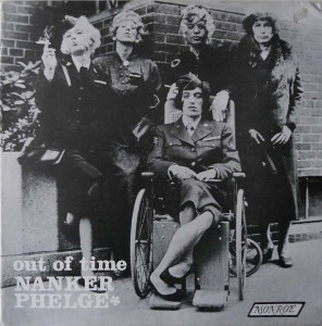 "The Out of Time bootleg, credited to ""Nanker Phelge,"" showed the Rolling Stones in drag in 1966."