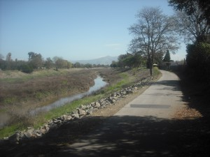 The Alameda Creek Trail, one sunny afternoon in March.