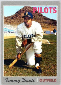 Like Jim Bouton, Tommy Davis would play most of 1969 with the Seattle Pilots, but end the season with the Houston Astros.