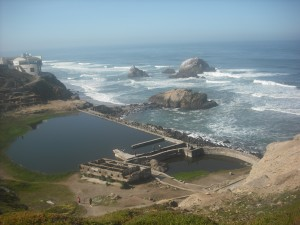 The Sutro Baths -- the most spectacular view from Land's End trail, near the western entrance.