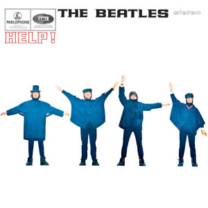 The Beatles aren't exactly spelling out Help! on the cover, but, you know, close enough.