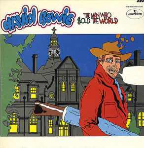 The US version of The Man Who Sold the World didn't even have a photo or image of Bowie on the cover.