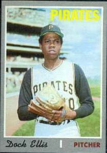 Dock Ellis, as he looked around the time he threw a no-hitter in 1970.