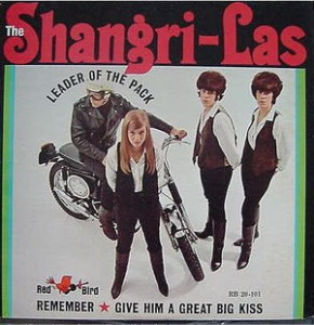 Although Betty Weiss was part of the original Shangri-Las, by the time of the photo on this release, they were down to the trio of her sister Mary Weiss and identical twins Marge and Mary Ann Ganser.