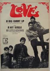 "An ad for Love's ""My Little Red Book"" single."