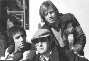 Part of the Credibility Gap in the early 1970s, with Harry Shearer (left), David L. Lander (center), and Michael McKean (right)