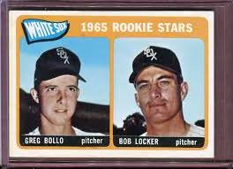 In contrast to Greg Bollo, the pitcher who shared his 1965 rookie card, Bob Locker, enjoyed a fairly long and successful career, appearing in 576 games (all as a reliever) and pitching for the Oakland A's in the 1972 World Series (which the A's won).
