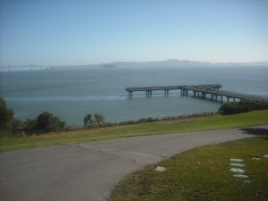 The pier in Paradise Beach Park, near the San Pablo Bay.