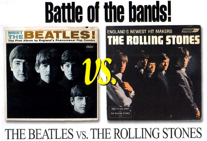 beatles vs rolling stones essay 'beatles vs stones' a fascinating tour of rock history john lennon and george harrison) and right, the rolling stones after the beatles caught a stones.