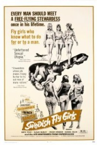 A poster for the Swedish Fly Girls movie.