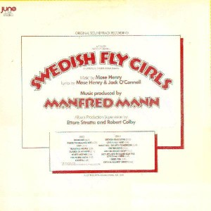 "The back cover of the ""Swedish Fly Girls"" soundtrack LP."