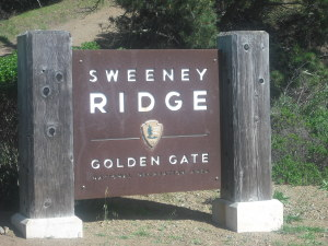 The Sweeney Ridge trailhead, in the back of the Shelldance Orchid Nursery parking lot.