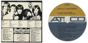 "The back cover of the first pressing of Buffalo Springfield's debut LP, listing a song, ""Baby Don't Scold Me,"" that was removed from subsequent editions. The rest of the track listing was slightly different than the more common subsequent editions as well."