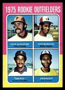 After his 1973 near-homer, Dave Augustine got rookie cards in both 1974 and 1975, but didn't come close to getting enough at-bats to lose his rookie status.