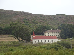 There aren't many buildings in this part of the Marin Headlands, but a few boast interesting architecture.