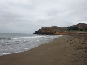 North end of Rodeo Beach.