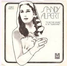 "The picture sleeve for Sandy Alpert's original version of ""Sunshine,"" probably a radio-only promo release."