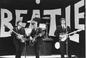 Neil Aspinall stood in for an ill George Harrison at a rehearsal for the Beatles' first Ed Sullivan Show appearance.