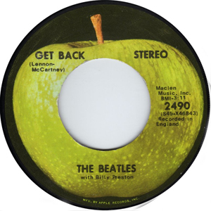 "The ""Get Back"" single was credited to ""The Beatles with Billy Preston."""