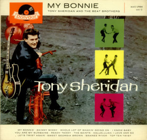 "The Beatles backed Tony Sheridan on ""My Bonnie,"" though on this release they were billed as ""The Beat Brothers."""