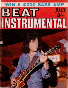 Peter Green on the cover of the UK magazine Beat Instrumental.