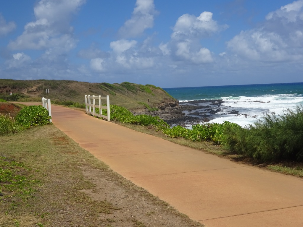 A stretch of the Kapaa bike path.