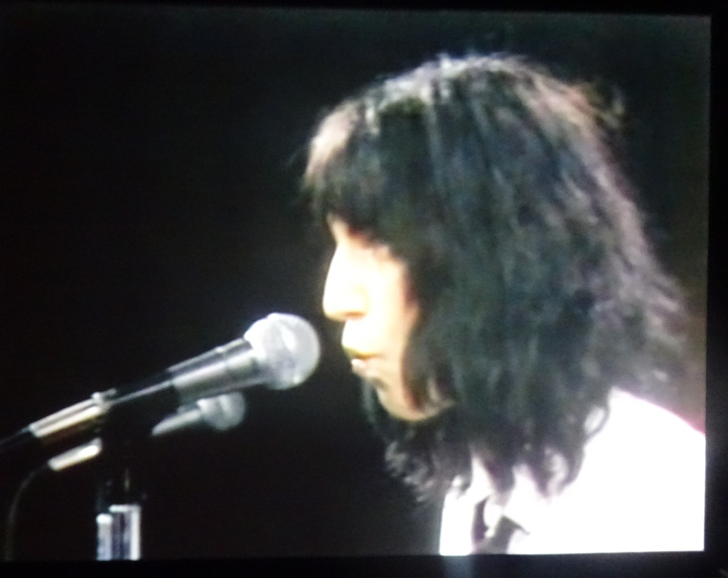 "Patti Smith singing ""Gloria"" on Saturday Night Live."