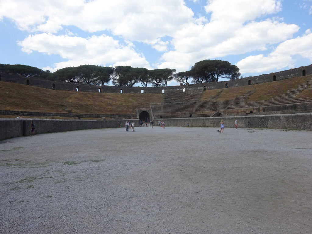The Pompeii amphitheater where Pink Floyd played in October 1971, as it appears today.
