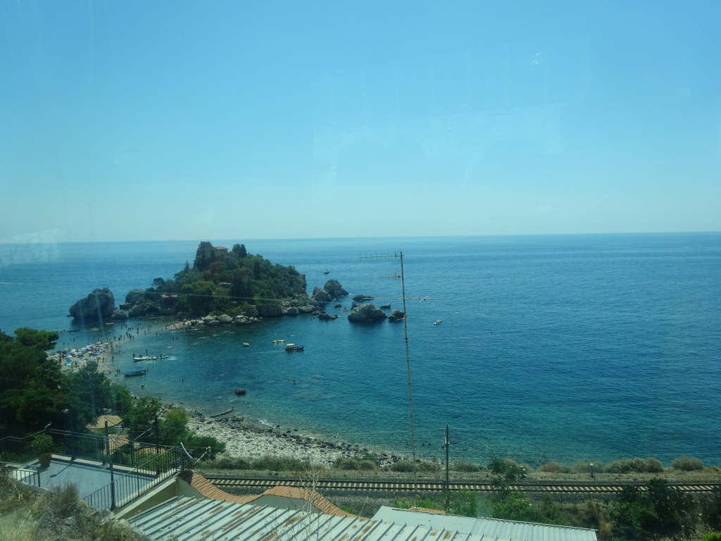 Isola Bella, viewed on a bus ride down from Taormina.