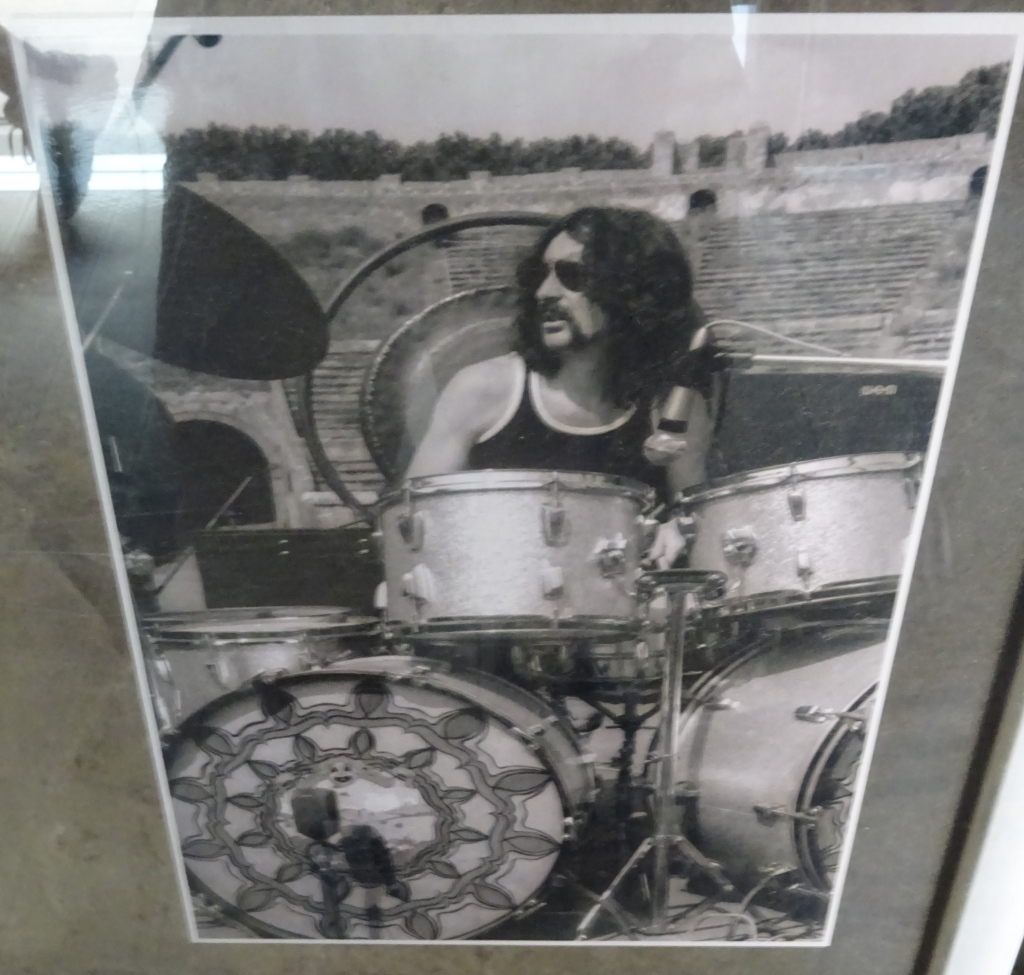 Nick Mason performing at Pompeii.