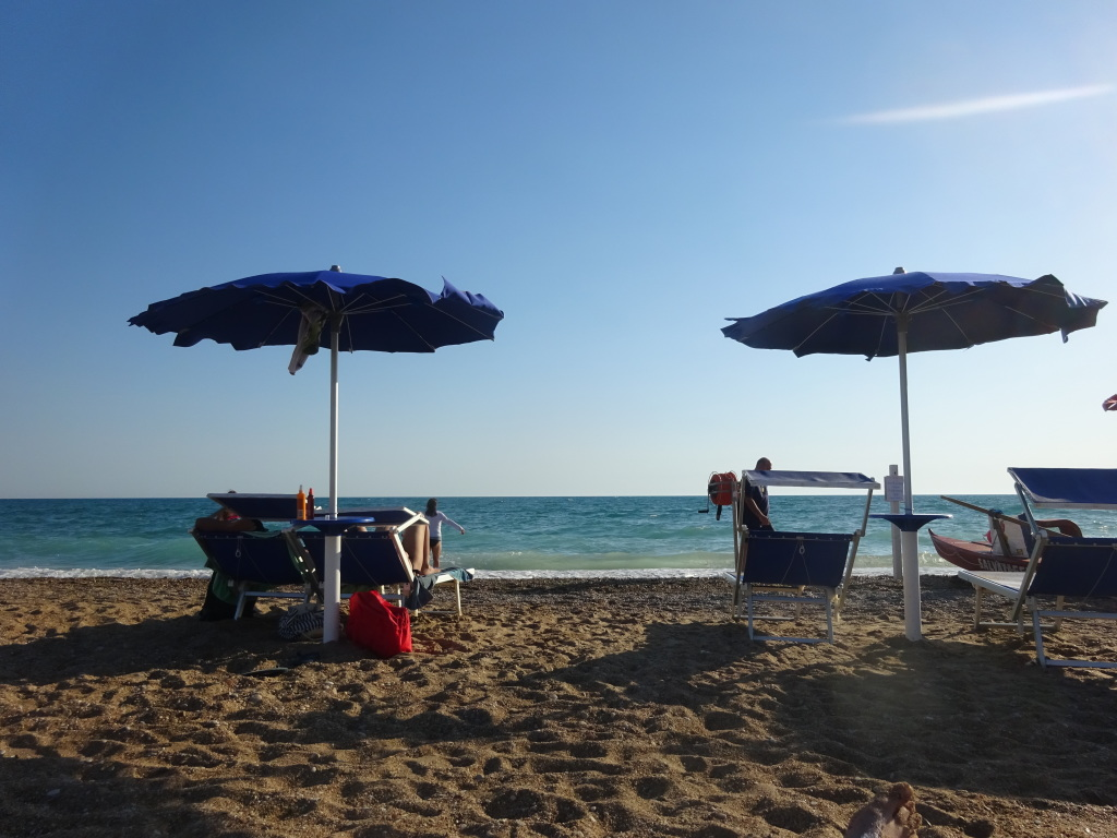 The beach at San Leone.