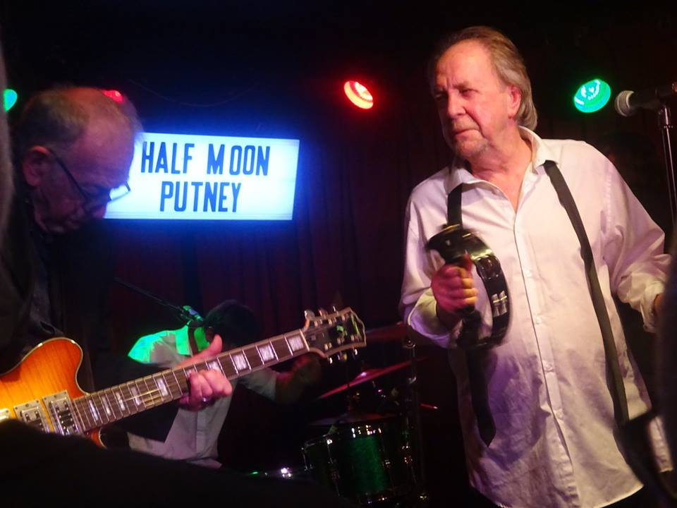 Dick Taylor (left) and Phil May of the Pretty Things onstage at the Half Moon Putney, July 13, 2018.