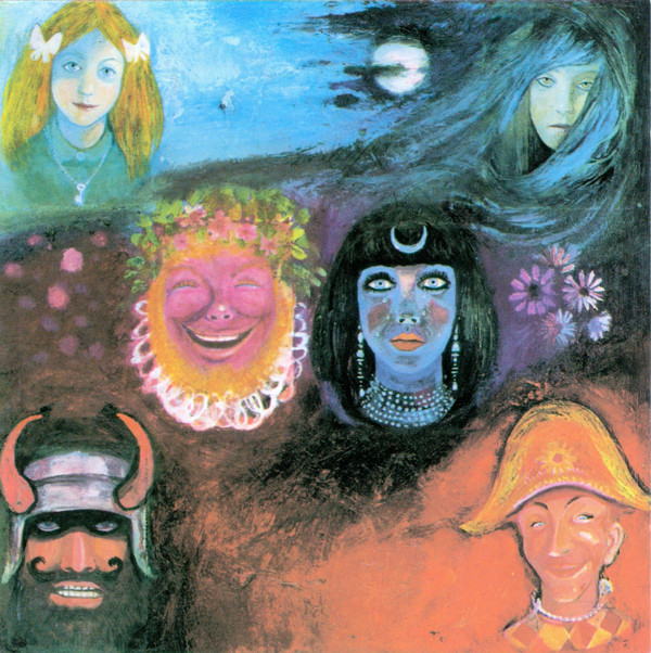 The cover for King Crimson's second LP, Wake of Poseidon (bottom), was almost as good as the cover for their debut (top), but the music wasn't half as memorable.