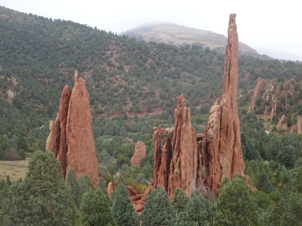Cone-like rocks at the Garden of the Gods.